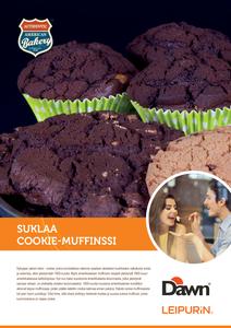 Suklaa Cookie-Muffinssi «Dawn»