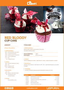 Red Bloody Cup Cake